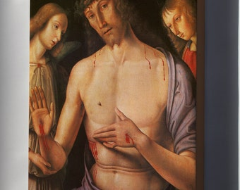 Canvas 24x36; Christ Supported By Two Angels, C.1490 By Raphael