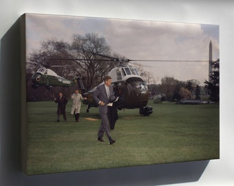 Canvas 16x24; Return Of The President Kennedy From Florida 1961