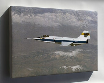 Canvas 16x24; Lockheed F-104 Starfighter
