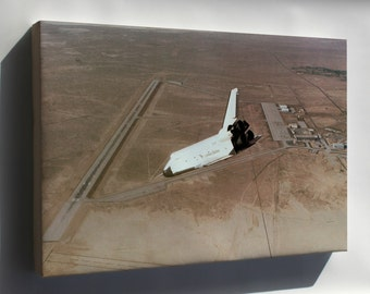 Canvas 16x24; Space Shuttle Enterprise Powerless Glide Dryden Research 1977