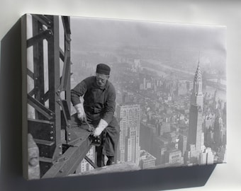Canvas 16x24; Steel Worker Empire State Building C1930