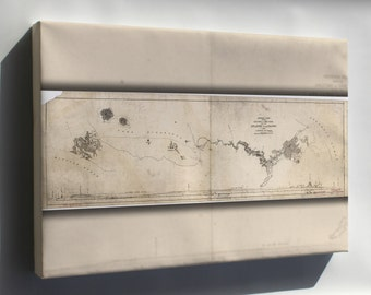 Canvas 16x24; Map Of Nicaragua Canal 1890