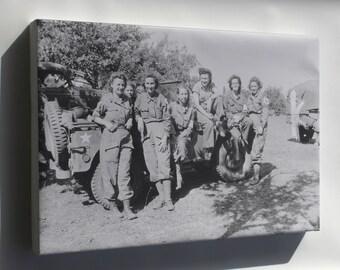 Canvas 16x24; Nurses Of A Field Hospital In France Aug 1944
