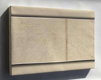 Canvas 16x24; Map Of Royal Land Companys Railroad Virginia 1870