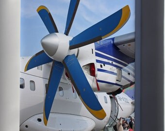 Canvas 16x24; Propeller Of The Antonov An-140-100