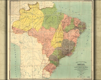 16x24 Poster; Map Of Brazil 1912