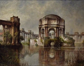 16x24 Poster; Palace Of Fine Arts And The Lagoon #031215