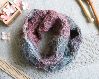 Children's snood - hand knit soft wool snood scarf - gift box with Free Worldwide Shipping