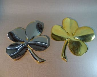 Gerity Plated 4-Leaf Clover Paperweight Good Luck Piece ONE Available