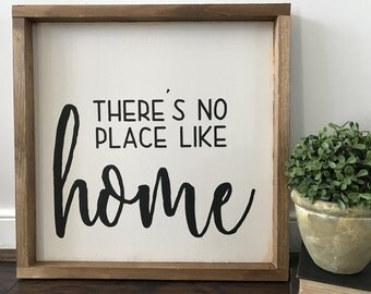 There's No Place Like Home - There's No Place Like Home Sign - Home Decor - Home Sign - Home Sign Decor - Wood Sign - Farmhouse Sign