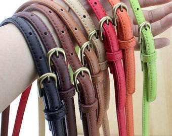 1 Pcs PU Leather Purse Strap, Adjustable Crossbody Shoulder Replacement Strap, Handbag Handle Clasp Chain, Metal Buckles Chain with D-Rings