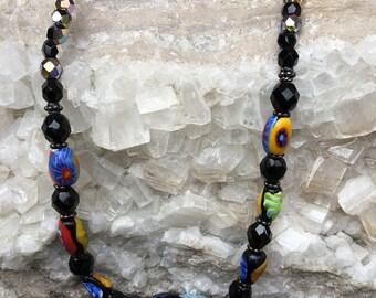 Murano Glass & Bali Silver Necklace
