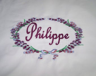 Floral personalized pillow case