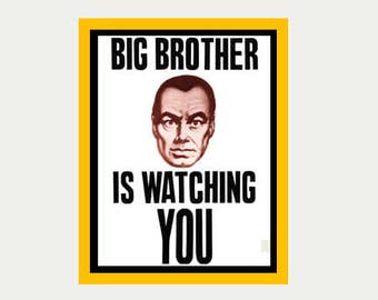 Big Brother Sticker - 1984 Decal - Orwell  Decal - Vintage Style Decal - Sticker For Car, Laptop, Window, Locker, Truck, Wall,  RV - S30