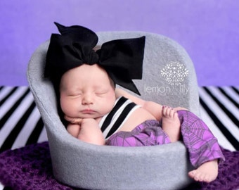 NOIR Gorgeous Wrap- headwrap; fabric head wrap; black head wrap; boho; newborn headband; baby headband; toddler headband