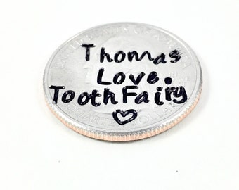 Tooth fairy coin, Personalized Tooth fairy gift, Faery faerie lost tooth, Magical toothfairy, Magical tooth fairy gift, Lost tooth coin