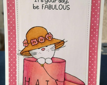 Fabulous Cat Mother's Day Card