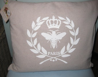 completed pillows with stencil design