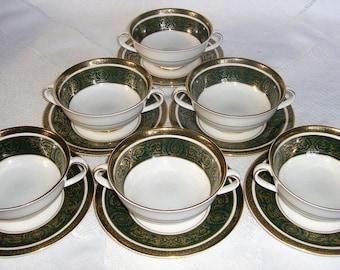 ROYAL DOULTON VANBOROUGH Cream Soup Bowls