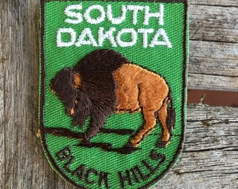 South Dakota Black Hills Vintage Souvenir Travel Patch from Voyager