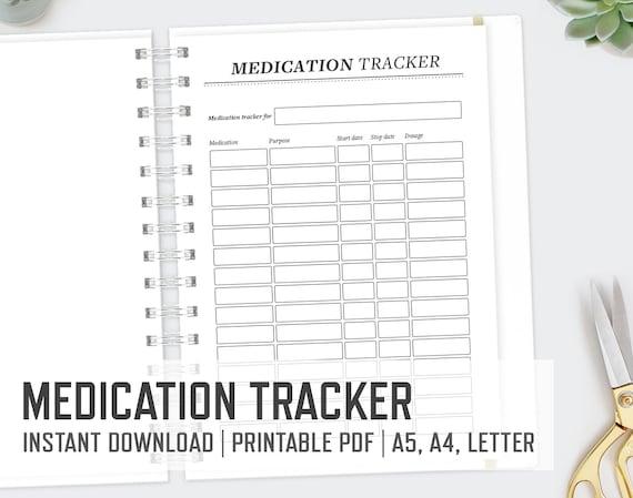 Vibrant image throughout free printable medication tracker