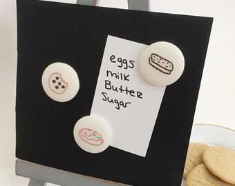 Dessert magnets ~ cookie magnet ~ hand embroidered magnets ~ embroidered magnets ~ fridge magnets ~ kitchen magnets ~ refrigerator magnets