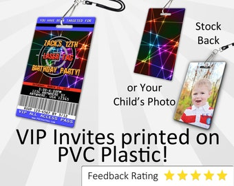 Laser Tag Invitation PLASTIC Laser Tag, Laser Tag Invitation, Birthday Invitation, Birthday Invite, Laser Tag Birthday Invitation SKU-INV147