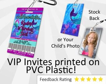 Mermaid Invitation PLASTIC Mermaid, Mermaid Invitation, Birthday Invitation, Birthday Invite, Mermaid Birthday Invitation SKU-INV160