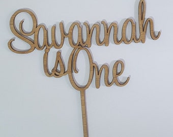 Birthday Name and Age Cake Topper