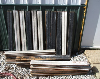 44 Reclaimed Wood Wainscoting Bead Boards Architectural Salvage Vintage a