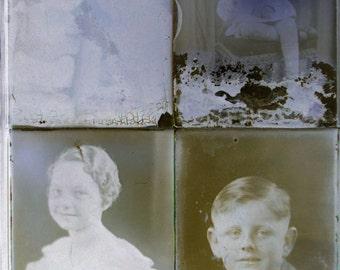 Lot 54 Glass Negative slides Antique Photo Photography Children Babies