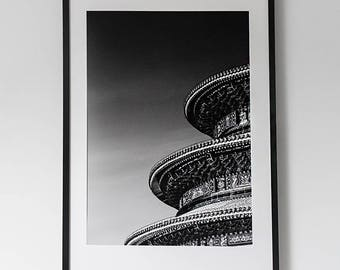 "60 x 90 fine art ""Chinese"" on Hahnemuhle cotton paper (structured) with or without frame"