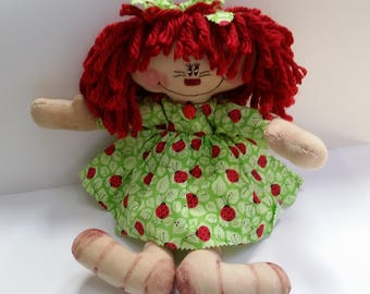 Primitive Raggedy Ann doll, primitive doll, Raggedy doll, country doll, primitive Raggedy doll, doll lover gift, Raggedy Ann doll