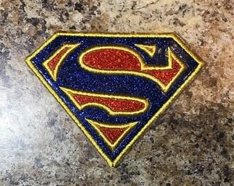 RTS - Super Woman Logo Iron On Appliqué - Ready to Ship!!