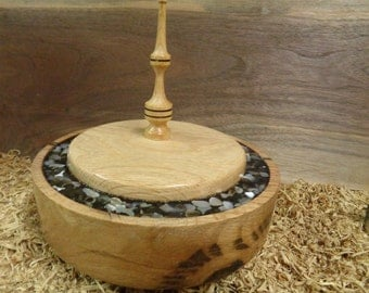 Oak Lidded Bowl #W0539