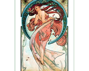 fabric panel - painting by Alphonse Mucha (49) - v.B