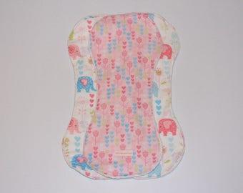 Baby burp cloths 3pk Elephants, flowers, burpie, newborn gift, baby shower gift, baby girl gift, mum to be, jungle animal, gifts under 30