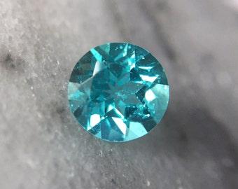 1.70ct Neon Blue Apatite Round