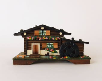 Vintage Swiss Music Box - Swiss Chalet House - Lonely Goatherder Sound of Music