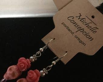 Handmade dias des los muertos earrings