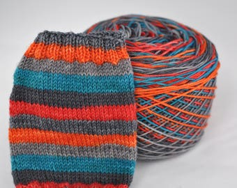 Hand Dyed Self Striping Yarn - Stained Glass Masquerade