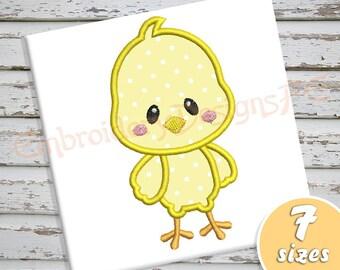 SALE !!! Chick Applique Design - 7 sizes - Machine Embroidery Design File