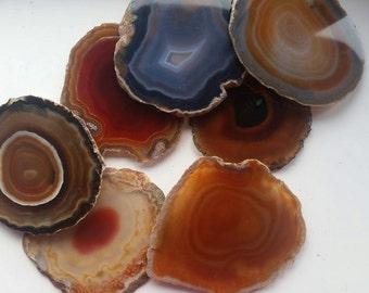 Brown Banded Agate Slice