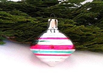 Rare Soviet Christmas tree decoration / Glass Xmas ornament / New Year / USSR, 1960s
