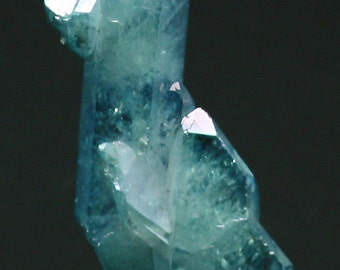 Blue Aqua Aura Faden Quartz, Crystals for Sale