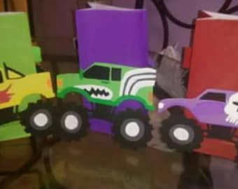 Monster truck. Goody bags