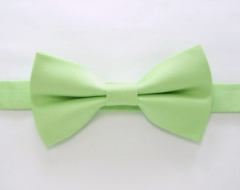 Light Green bow tie,Easter bow tie,Wedding bow tie for Men,Toddlers ,Boys,baby