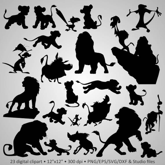 Buy 2 Get 1 Free Digital Clipart Silhouettes Quot Lion King