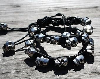 Stackable skull bracelet