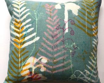 beautiful multi print cushion